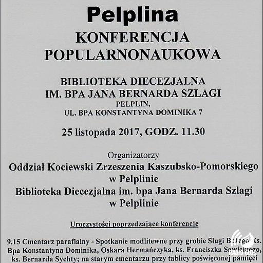 Konferencja w Pelplinie 25.11.2017