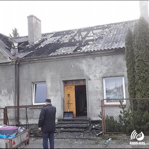 Pożar domu w Pelplinie 19.01.2019